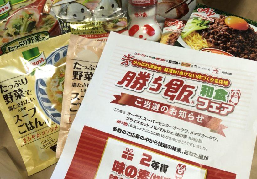 2等賞の味の素商品 詰め合わせセット 2000円相当が当選