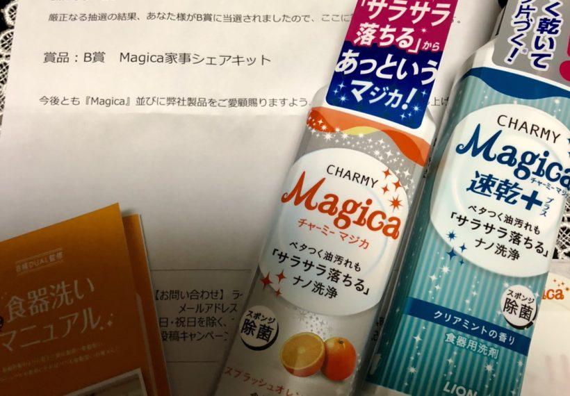 「ライオン」の「Magica自分史上初のセリフ大募集」キャンペーンに応募、B賞当選